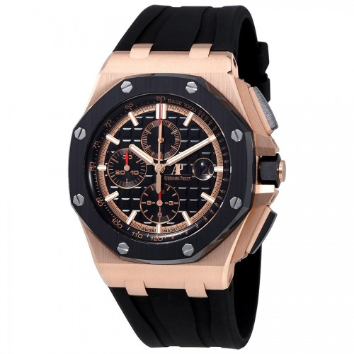 AUDEMARS PIGUET Royal Oak Offshore Black Mega Tapisserie Dial Men's Chronograph Watch